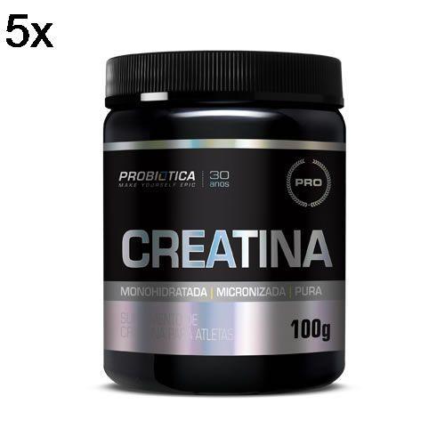 Kit 5X Creatina Monohidratada Pura - 100g - Probiótica no Atacado