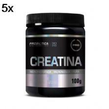 Kit 5X Creatina Monohidratada Pura - 100g - Probiótica