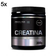 Kit 5X Creatina Monohidratada Pura - 300g - Probiótica