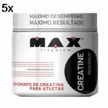 Kit 5X Creatine - 300g - Max Titanium