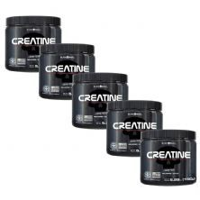 Kit 5X Creatine Pure Monohydrate - 150g - Black Skull