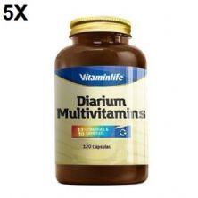Kit 5X Diarium Multivitamínico - 120 Cápsulas - VitaminLife