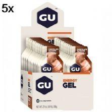 Kit 5X Energy Gel - 24 Sachês 32g Chocolate - GU