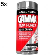 Kit 5X Gamma ZMA Force - 60 Cápsulas - Cell Force