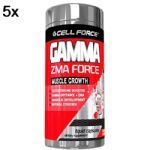 Kit 5X Gamma ZMA Force - 60 Cápsulas - Cell Force no Atacado