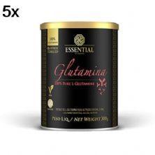 Kit 5X Glutamina - 300g - Essential Nutrition