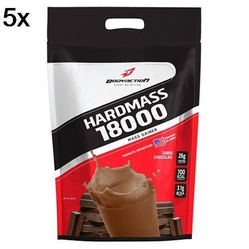 Kit 5X Hard Mass 18000 - 3000g Chocolate - BodyAction no Atacado