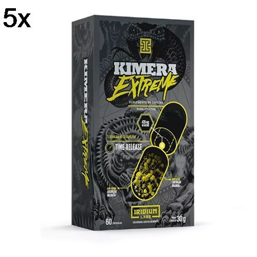 Kit 5X Kimera Extreme - 60 Cápsulas - Iridium no Atacado