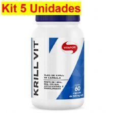 Kit 5X Krill Vit Óleo de Krill - 60 Cápsulas 500mg - Vitafor