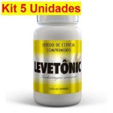 Kit 5X Levetônic Levedo de Cerveja - 400 Comprimidos - BodyAction