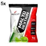 Kit 5X Malto Dextrin - 1000g Refil Limão - BodyAction no Atacado