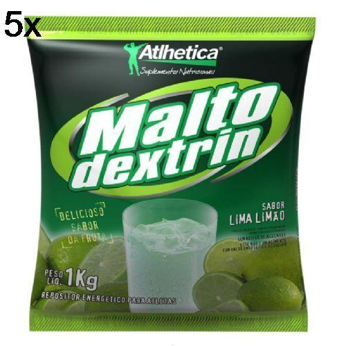 Kit 5X Maltodextrin - 1000g Lima-Limão - Atlhetica Nutrition no Atacado