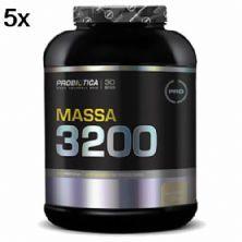 Kit 5X Massa 3200 - 3000g Baunilha - Probiótica
