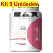 Kit 5X Max Shake -  400g Chocolate - Max Titanium