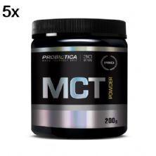Kit 5X MCT Powder Nova Fórmula - 200g - Probiótica