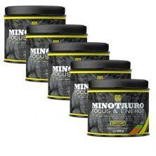 Kit 5X Minotauro Focus & Energy - 300g Laranja - Iridium