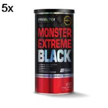 Kit 5X Monster Extreme Black New Power Formula - 22 Packs - Probiótica