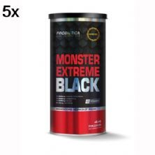 Kit 5X Monster Extreme Black New Power Formula - 44 Packs - Probiótica