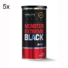 Kit 5X Monster Extreme Black New Power Formula - 44 Packs - Probiótica