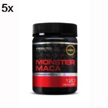 Kit 5X Monster Maca Peruana - 120 Cápsulas - Probiotica