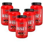 Kit 5X Nutri Whey Protein - 907g Chocolate - IntegralMédica no Atacado