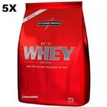 Kit 5X Nutri Whey Protein - 907g Refil Chocolate - IntegralMédica