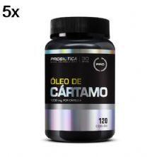 Kit 5X Óleo de Cártamo - 120 Cápsulas - Probiótica