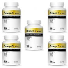 Kit 5X Ômega 3 1000mg - 120 Cápsulas - Inove Nutrition