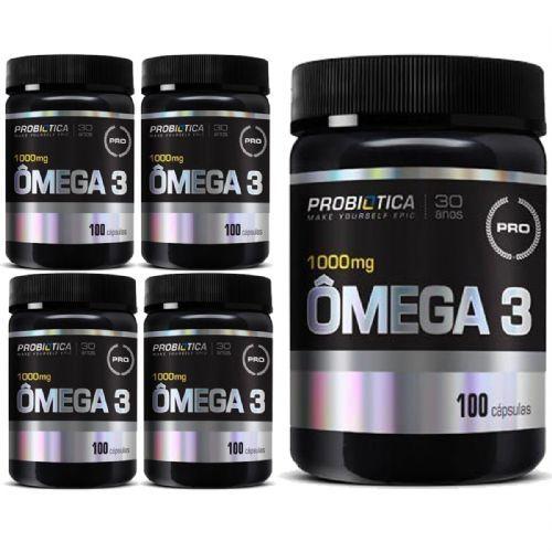 Kit 5X Ômega 3 Nova Formula Pro Health - 100 Cápsulas - Probiótica no Atacado