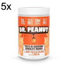 Kit 5X Pasta de Amendoim - 1005g  Chocolate Branco com Whey Isolado - Dr. Peanut