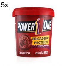 Kit 5X Pasta de Brigadeiro Proteico - 500g - Power One