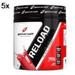Kit 5X Reload Energy Powder - 300g - BodyAction