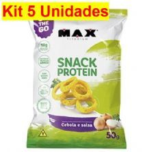 Kit 5X Snack Protein - 50g Cebola Slasa - Max Titanium
