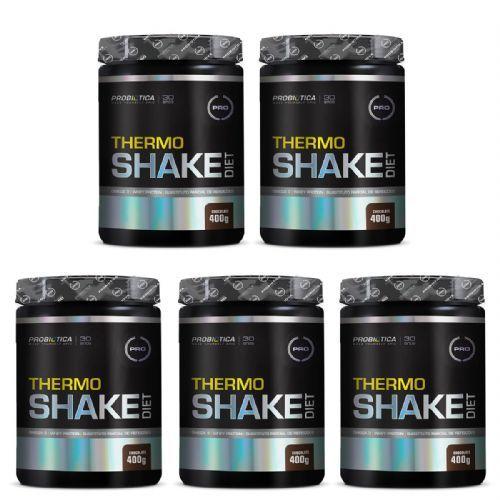 Kit 5X Thermo Shake Diet - 400g Chocolate - Probiótica no Atacado