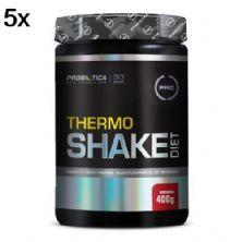 Kit 5X Thermo Shake Diet - 400g Morango - Probiótica