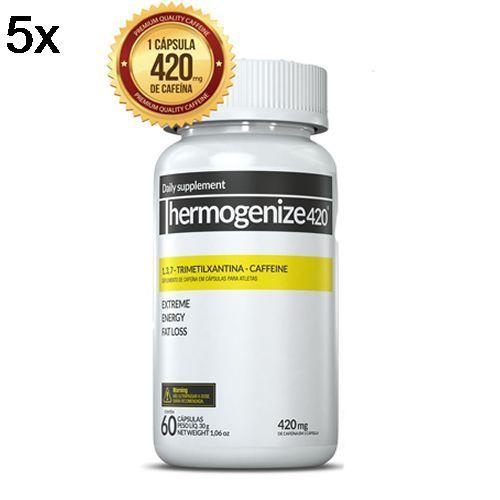 Kit 5X Thermogenize420 - 60 Cápsulas - Inove Nutrition no Atacado