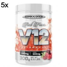 Kit 5X V12 Pre - Workout - 300g Red Fever - Forcetech Labs