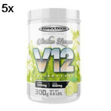 Kit 5X V12 Pre - Workout - 300g Sicilion Lemon - Forcetech Labs
