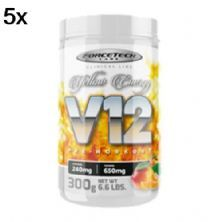 Kit 5X V12 Pre - Workout - 300g Yellow Energy - Forcetech Labs