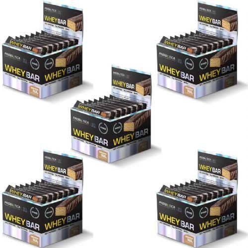 Kit 5X Whey Bar High Protein - 24 Unidades 40g Amendoim - Probiótica no Atacado