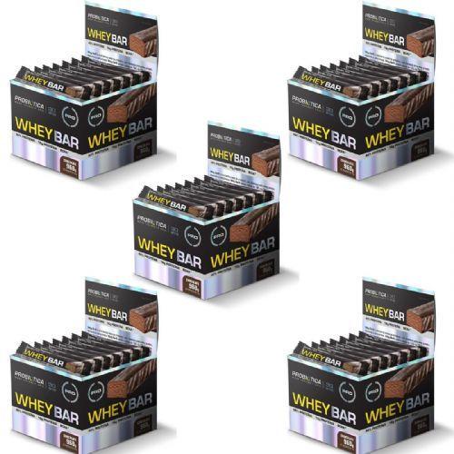 Kit 5X Whey Bar High Protein - 24 Unidades 40g Chocolate - Probiótica no Atacado