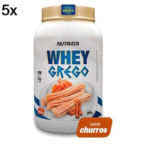 Kit 5X Whey Grego - 900g Churros - Nutrata no Atacado