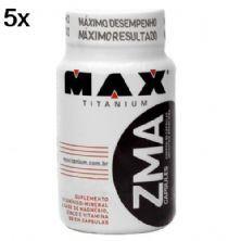 Kit 5X ZMA - 90 Cápsulas - Max Titanium