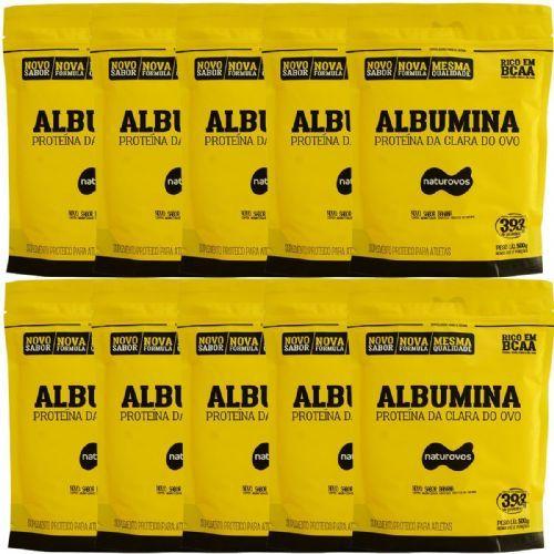 Kit Albumina - 500g Refil Banana - Naturovos no Atacado