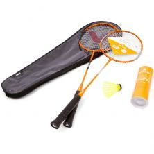Kit Badminton - 2 Raquetes e  3 Petecas - Vollo Sports