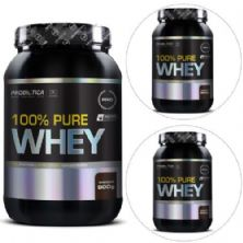 Kit com 3 100% Pure Whey 900g Chocolate - Probiótica