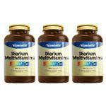Kit com 3 Diarium - Multivitamínico 120 Cápsulas - VitaminLife