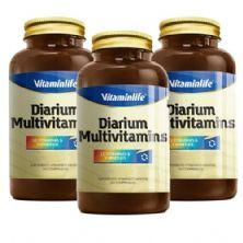 Kit com 3 Diarium - Multivitamínico 45 comprimidos - VitaminLife