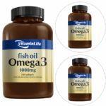 Kit com 3 - Omega 3 1000mg - 200 cápsulas - VitaminLife