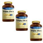 Kit com 3 - Triple Efas Omega 3 6 9 - 60 Cápsulas - VitaminLife